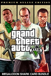 Grand Theft Auto V: Premium Online Edition & Megalodon Shark Card Bundle playone.club
